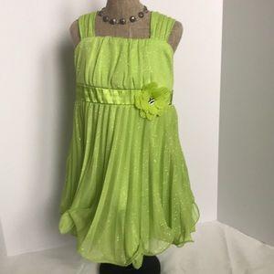 Lime Green spring dress 4